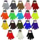 Winter Unisex Stretchy Knitted Gloves Solid Colors or Neons Warm Gloves One Size