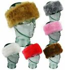Ladies Girls Large Thick Faux Fur Headband Earwarmers Ear Muffs Winter Warm Hat