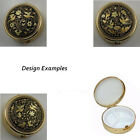 Damascene Gold Dove of Peace Flower Design Round Pill Box by Midas Toledo Spain