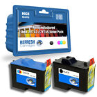 REMANUFACTURED TWINPACK DELL 7Y743 / 7Y745 PRINTER INK CARTRIDGES - 1 FULL SET