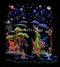 FESTIVAL OF LIFE--Animals Ecosystems Space Nature Science Kids 2 sided T shirt S