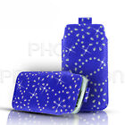 BLING PREMIUM PU LEATHER  PULL TAB CASE COVER POUCH FOR VARIOUS SAMSUNG PHONES