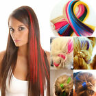 clip In On Colorful Hair piece Synthetic Straight Hair Extensions Highlight New