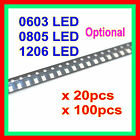 New SMT SMD 0603 0805 1206 LED Chip White Red Blue Green Orange Yellow Kelly