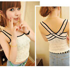 Womens Lady Tank Vest Sexy Sleeveless Petal Stretch Lace Camisole Tops T-shirt