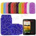 PU Leather Diamond Glitter Sparkly Pull Tab Case Cover Skin  For HTC One X+