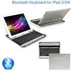 Ultra Slim Aluminium Wireless Bluetooth Keyboard Case Cover For iPad 2 3 4