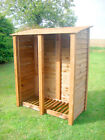 DOUBLE 6FT OUTDOOR WOODEN LOG STORE - ALSO AVAILABLE WITH DOORS.