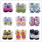 Stylish Newborn Baby Unisex Indoor Anti-slip Warm Socks Cartoon Shoes Boots DDN