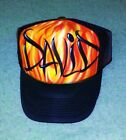 Airbrush Trucker Hat Flames, Airbrushed Trucker Hat, Airbrush Hat With Name