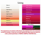 Lining, (4x5cm sample colour testers & per metre purchasing)