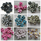 30pcs Lovely Polymer Clay Flower Button Beads; 17 Colours 20mm UK Seller