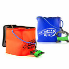 Portable Foldable Bucket Pail Square Rock Fishing Lure Baits Live Fish Tank Rope