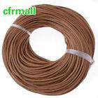 5-100 Meters Real Finding round natural colour real leather cord 2mm A0016