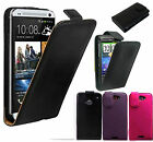 NEW LUXURY PU LEATHER FLIP CASE COVER FOR HTC ONE & HTC G7 DESIRE