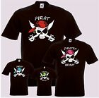 T-Shirt PIRAT oder PIRATENBRAUT Party Ballermann Mallorca Neonfarben