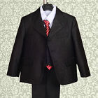 5 pcs Shimmer Formal Suit Waistcoat Wedding Pageboy Party Boy Age 1-6 Years 024A