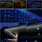 5M 224 led Outdoor Christmas Lights Hanging Static Chasing Icicle Curtain Light