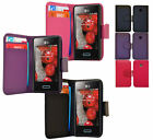 For Lg Optimus L3 E400 New Side Opening Magnetic Flip Wallet Leather Case Cover