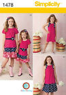 SEWING PATTERN! MAKE SKIRT~KNIT TOP OR DRESS! SIZE CHILD 3~6 / GIRL 7~14! SUMMER