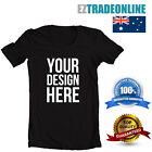 CUSTOM PRINTED T-SHIRT(BLACK) PERSONALISE YOUR OWN TSHIRT TEXT OR DESIGN