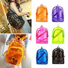 New Women Girl Fashion Transparent Clear Plastic Student Schoolbag Backpack Free