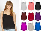 New Ladies/Girls Sleeveless Swing Vest Top Strappy Plain Cami Size 6,8,10,12,14