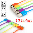 Color USB Data Sync Charger Cable for Apple iPod Touch iPhone 4 3G 3 4S iPad 2 3