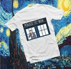Doctor Who Tardis Time Police Public Call Box  White T Shirt Mans Women All Size