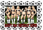 A4 EDIBLE SEXY LADY BOOBS FOOTBALL MEN 18th 21st 40th BIRTHDAY ICING CAKE TOPPER