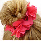 Bun Garland Scrunchie Floral Hair Head  Band  Stretch Elastic Bridal Wedding