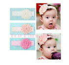 Baby Kid Girl Toddler Lace Bow Flower Headband Hairband Cute Hair Accessories