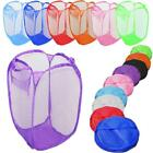 LAUNDRY BAG POP UP MESH WASHING FOLDABLE LAUNDRY BASKET BAG BIN HAMPER STORAGE