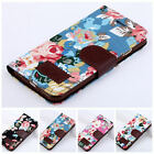 Luxury Flower Leather Floral Print Wallet Stand Filp Cover Case For iPhone 5 5S