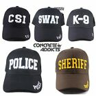 POLICE SHERIFF SWAT CSI K-9 Hat Baseball Cap Adjustable Embroidered 3D NEW NWT