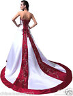 Faironly New  Train Satin Embroidery Sequins Beads Bridal Gown Wedding Dress