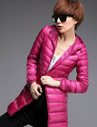New Fashion Causal Womens Ultralight Down Coat Packable Hoodie Jacket Outwear