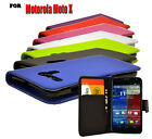 7 Colour Mobile Phone Case Cover New PU Leather Wallet Flip For Motorola Moto X