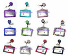 Rhinestone Retractable Badge Reel and Horizontal ID Card Holder Combo Set