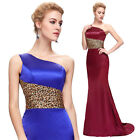 Elegant Satin Long Women Formal Bridesmaid Cocktail Party Evening Dress 2 4 6~16