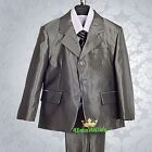 5pcs Set Formal Tuxedo Suit Outfit Wedding Page Boy Function Kid Size 1-6 BV21