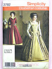 Simplicity 3782 Sewing Pattern Ladies Elizabethan Style Gown/Dress Costume