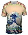 "Yizzam - Hokusai - ""The Great Wave Off Kanagawa""-  New Men Unisex Tee Shirt"