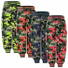 KIDS CAMOUFLAGE SPORTS TROUSERS GIRLS BOYS PANTS TRACKSUIT JOGGING BOTTOMS 3-16