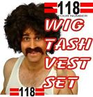 118 118 FANCY DRESS OUTFIT GOT YOUR NUMBER INCLUDES WIG TASH AND PRINTED VEST