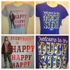 Men's Duck Dynasty Robertson duck call Si Phil, Willie  Jase screen t shirt m l