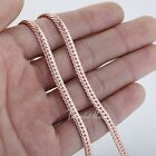 3/4mm Hammered Curb Cuban Mens Womens Unisex Chain Rose Gold Filled GF Necklace