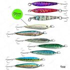Fishing 1oz Butterfly Vertical Rigged Mega Metal Fish Jigs Bait Lures Spoon New