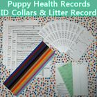 Kyпить Puppy Vaccination Health Records Report Whelping ID Collar Bands Litter Record  на еВаy.соm