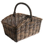 Oblong Greywash Rattan Wicker Log/Shopping/Storage/Display Baskets in 3 Sizes